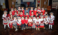 St David's Day, Reception Class, at Mayals Primary School in Swansea, Wales, UK. Wednesday 01 March 2017
