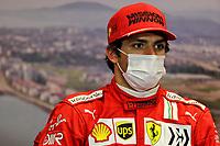 25th September 2021; Sochi, Russia; F1 Grand Prix of Russia  qualifying sessions;  F1 Grand Prix of Russia 55 CarlSainz ESP, Scuderia Ferrari Mission Winnow