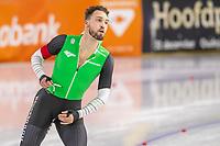 28th December 2020; Thialf Ice Stadium, Heerenveen, Netherlands; World Championship Speed Skating;  500m men, Kjeld Nuis during the WKKT