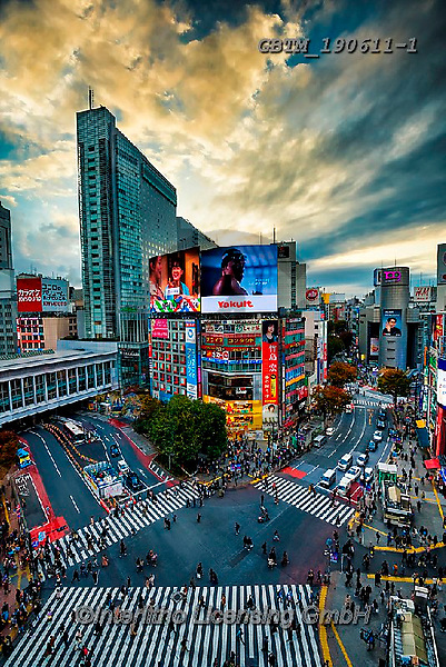 Tom Mackie, LANDSCAPES, LANDSCHAFTEN, PAISAJES, photos,+Asia, Honshu, Japan, Japanese, Shibuya crossing, Tokyo, Tom Mackie, Urban Environment, Worldwide, building, buildings, capita+l, cities, city, cloud, clouds, cloudscape, dramatic outdoors, high angle, illuminated, illumination, light, pathways, red, r+oad, roads, skies, sky, skyline, sunset, sunsets, time of day, upright, urban, vertical, weather, world wide, world-wide,Asia+, Honshu, Japan, Japanese, Shibuya crossing, Tokyo, Tom Mackie, Urban Environment, Worldwide, building, buildings, capital, c+,GBTM190611-1,#l#, EVERYDAY