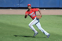 Outfielder Byron Buxton (70) of the Minnesota Twins during a spring training game against the Tampa Bay Rays on March 2, 2014 at Charlotte Sports Park in Port Charlotte, Florida.  Tampa Bay defeated Minnesota 6-3.  (Mike Janes/Four Seam Images)