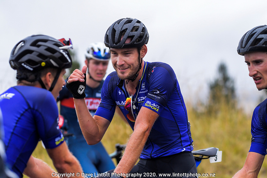 Hayden McCormick (New Zealand/Black Spoke Pro Cycling Academy) after stage four of the NZ Cycle Classic UCI Oceania Tour (Te Wharau-Admiral Hill Queen Stage) in Wairarapa, New Zealand on Saturday, 18 January 2020. Photo: Dave Lintott / lintottphoto.co.nz