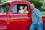 Family in the old vintage Ford Truck, San Luis Obispo, California