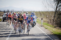 Belgian National Champion Yves LAMPAERT (BEL/Deceuninck-Quick Step) to the front<br /> <br /> 13th Strade Bianche 2019 (1.UWT)<br /> One day race from Siena to Siena (184km)<br /> <br /> ©kramon