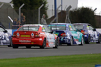 Round 10 of the 2002 British Touring Car Championship. Race Action.