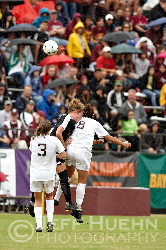 SAN ANTONIO , TX - NOVEMBER 8, 2009: The Texas A&M University Aggies vs. the Oklahoma State Universtiy Cowgirls in the Big 12 Conference Women's Soccer Championship at the Blossom Soccer Complex. (Photo by Jeff Huehn)