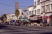 San Francisco, California.  Mission Street Scene, Mission District.