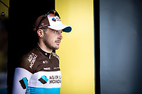 Alexis Gougeard (FRA/AG2R La Mondiale) on podium as most combative rider of the stage. <br /> <br /> Stage 16: Nimes to Nimes (177km)<br /> 106th Tour de France 2019 (2.UWT)<br /> <br /> ©kramon