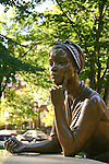 Statue of Philliss Wheatley, Af. Am. poet. born 1753. The Women's Heritage Trail, Boston, MA