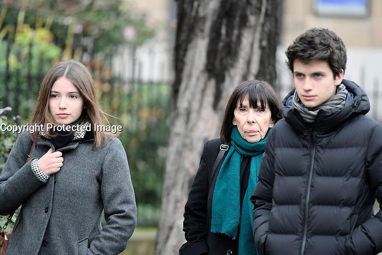 Famille et proches - Obseques de Michele Morgan - Service religieux en l'Èglise Saint-Pierre de Neuilly-sur-Seine le 23 decembre 2016