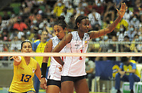 CALI - COLOMBIA, 18-09-2021: Colombia (COL) y Argentina (ARG) en partido como parte del XXXIV Campeonato Sudamericano de Voleibol Femenino 2021 en el coliseo Luis F Castellanos de Barrancabermeja, Colombia. / Colombia (COL) and Argentina (ARG) in a match as part of XXXIV South American Women's Volleyball Championship 2021 at the Luis F Castellanos Coliseum in Barrancabermeja, Colombia .  Photo: VizzorImage / Nelson Rios / Cont