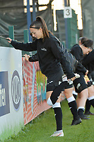 Aalst's forward Anke Vanhooren  pictured during the warming up of a female soccer game between Eendracht Aalst and Racing Genk on the fifth matchday of the 2020 - 2021 season of Belgian Scooore Womens Super League , Saturday 28 th of November 2020  in Aalst , Belgium . PHOTO SPORTPIX.BE | SPP | DIRK VUYLSTEKE