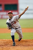 Mississippi starting pitcher Kelvin Villa (39) in action versus Chattanooga at AT&T Field in Chattanooga, TN, Wednesday, July 26, 2007.