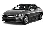 2019 Mercedes Benz A Class A 200 4 Door Sedan angular front stock photos of front three quarter view