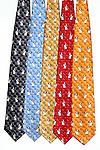 """Guy Buffet 100% Silk Tie<br /> """"Le Sommelier""""<br /> $75 includes shipping in Continental US<br /> Specify Color; Dark Grey, Blue, Gold, Red, Orange<br /> Limited quantities."""