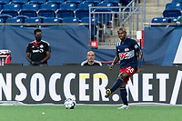 FOXBOROUGH, MA - JULY 9: Michel #48 of New England Revolution II passes the ball during a game between Toronto FC II and New England Revolution II at Gillette Stadium on July 9, 2021 in Foxborough, Massachusetts.
