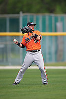 Baltimore Orioles Ryan McKenna (86) during a minor league Spring Training intrasquad game on April 2, 2016 at Buck O'Neil Complex in Sarasota, Florida.  (Mike Janes/Four Seam Images)