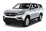 2020 Ssangyong Musso Quartz 4 Door Pick-up Angular Front automotive stock photos of front three quarter view