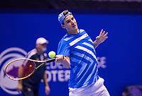 Rotterdam, Netherlands, December 16, 2017, Topsportcentrum, Ned. Loterij NK Tennis, Semifinal men, Justin Eleveld (NED)<br /> Photo: Tennisimages/Henk Koster