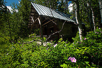 Your Can Ride Your Mountain bike to the Old Hough Homestead at Sun Mountain Lodge, Winthrop, Washington, US