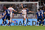 Sardar Azmoun of Iran (L) fights for the ball with Endo Wataru of Japan (R) during the AFC Asian Cup UAE 2019 Semi Finals match between I.R. Iran (IRN) and Japan (JPN) at Hazza Bin Zayed Stadium  on 28 January 2019 in Al Alin, United Arab Emirates. Photo by Marcio Rodrigo Machado / Power Sport Images
