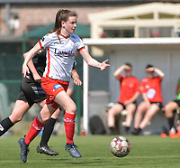 Summer Rogiers (8) of Zulte Waregem  pictured during a female soccer game between SV Zulte - Waregem and White Star Woluwe on the 10 th and last matchday in play off 2 of the 2020 - 2021 season of Belgian Scooore Womens Super League , saturday 29 of May 2021  in Zulte , Belgium . PHOTO SPORTPIX.BE | SPP | DIRK VUYLSTEKE