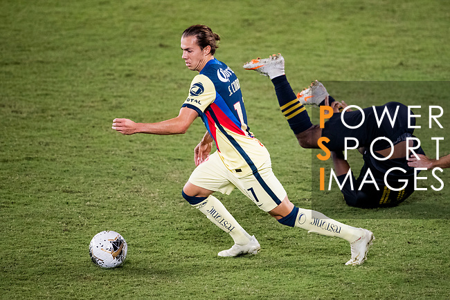 Sebastian Cordova of Club America (MEX) in action during their CONCACAF Champions League Semi Finals match against Los Angeles FC (USA) at the Orlando's Exploria Stadium on 19 December 2020, in Florida, USA. Photo by Victor Fraile / Power Sport Images