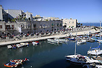 Giovinazzo the start of Stage 8 of the 103rd edition of the Giro d'Italia 2020 running 200km from Giovinazzo to Vieste, Sicily, Italy. 10th October 2020.  <br /> Picture: LaPresse/Marco Alpozzi | Cyclefile<br /> <br /> All photos usage must carry mandatory copyright credit (© Cyclefile | LaPresse/Marco Alpozzi)