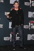LOS ANGELES, CA, USA - APRIL 13: Channing Tatum in the press room at the 2014 MTV Movie Awards held at Nokia Theatre L.A. Live on April 13, 2014 in Los Angeles, California, United States. (Photo by Xavier Collin/Celebrity Monitor)