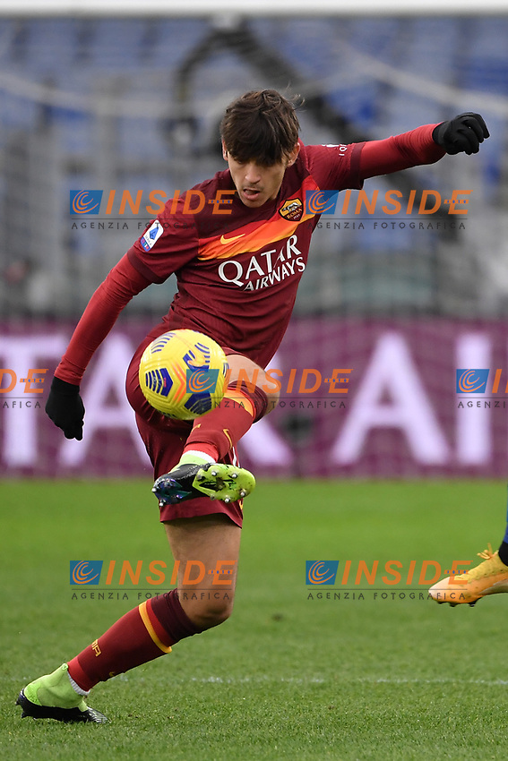 Gonzalo Villar of Roma during the Serie A football match between AS Roma and FC Internazionale at Olimpico stadium in Roma (Italy), January 10th, 2021. Photo Andrea Staccioli / Insidefoto