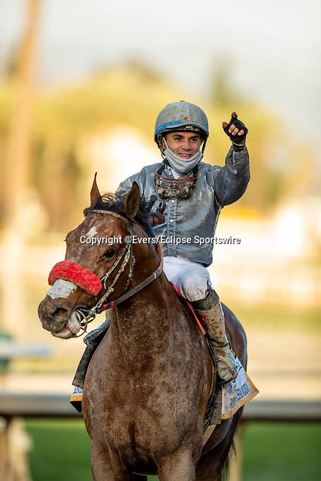 March 06, 2021: Idol with Joel Rosario wins the Santa Anita Handicap at Santa Anita Park in Arcadia, California on March 06, 2021. Evers/Eclipse Sportswire/CSM