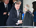 Rangers manager Ally McCoist leaves Mortonhall Crematorium after the funeral service for Sandy Jardine.