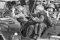 - Normandy, war veterans and collectors of vintage military vehicles participate the yearly ceremonies for the commemoration of the allied landing of June 1944....- Normandia, veterani di guerra e collezionisti di veicoli militari d'epoca partecipano alle annuali cerimonie per la commemorazione degli sbarchi alleati del giugno 1944