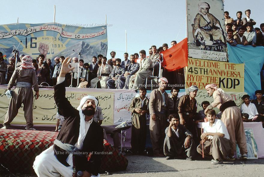 Irak 1991 Fête pour le 25ème anniversaire du PDK    Iraq 1991    Celebration for the 45th anniversary of KDP