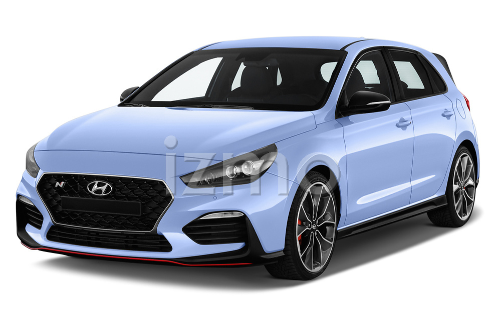 2018 Hyundai i30 N Performance Pack Select Doors Door Hatchback angular front stock photos of front three quarter view