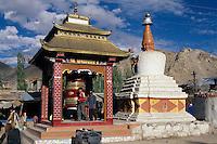 Leh: Gebetsmühle, Ladakh (Jammu+Kashmir), Indien