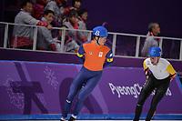 OLYMPIC GAMES: PYEONGCHANG: 24-02-2018, Gangneung Oval, Long Track, Mass Start Men, Sven Kramer (NED), Bart Swings (BEL), ©photo Martin de Jong