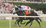Romacaca wins the Modesty H. (grade 3 Stakes) at Arlington Park Saturday afternoon with jockey Francisco Torres aboard.