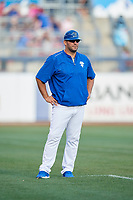 Tulsa Drillers Ryan Garko (31) during a game against the Corpus Christi Hooks on June 3, 2017 at ONEOK Field in Tulsa, Oklahoma.  Corpus Christi defeated Tulsa 5-3.  (Mike Janes/Four Seam Images)