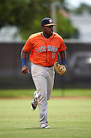 Houston Astros left fielder Ronnie Dawson (2) during an Instructional League game against the Atlanta Braves on September 26, 2016 at Osceola County Stadium Complex in Kissimmee, Florida.  (Mike Janes/Four Seam Images)