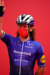 Shane Archbold (NZL) Deceuninck-Quick Step at sign on before the start of Stage 5 of the 2021 UAE Tour running 170km from Fujairah to Jebel Jais, Fujairah, UAE. 25th February 2021.  <br /> Picture: Eoin Clarke   Cyclefile<br /> <br /> All photos usage must carry mandatory copyright credit (© Cyclefile   Eoin Clarke)