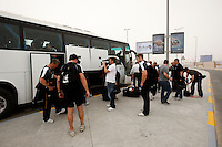 Photo: Richard Lane/Richard Lane Photography. London Wasps in Abu Dhabi for their LV= Cup game against Harlequins on 30th January 2011. 01/02/2011. Wasps players at the airport.