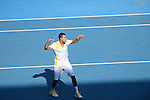 Jo Wilfried TSONGA (FRA) wins at Australian Open in Melbourne Australia on 21st January 2013