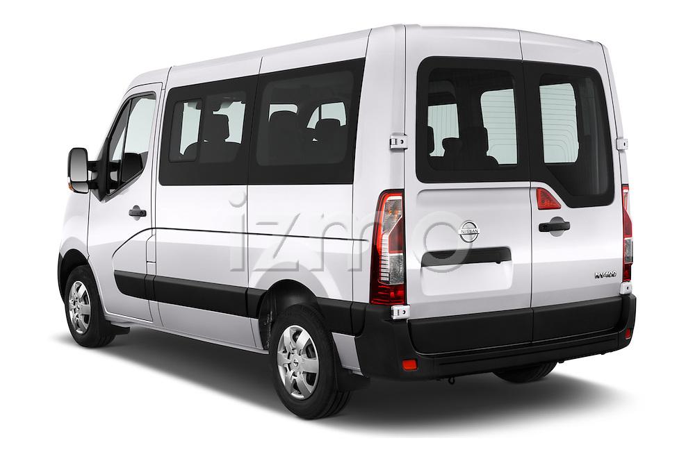 Car pictures of rear three quarter view of 2016 Nissan NV400-Combi l1h1-Optima 5 Door Passenger Van Angular Rear