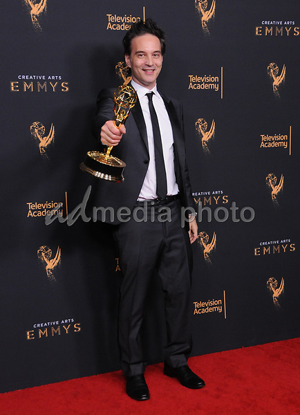 10 September  2017 - Los Angeles, California - Jeff Russo. 2017 Creative Arts Emmys - Press Room held at Microsoft Theatre L.A. Live in Los Angeles. Photo Credit: Birdie Thompson/AdMedia