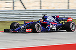 Brendon Hartley of New Zealand (39) in action during qualifying before this weekends Formula 1 United States Grand Prix race at the Circuit of the Americas race track in Austin,Texas.