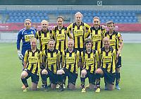20150514 - BEVEREN , BELGIUM : Lierse's team pictured with Justien Odeurs , Caroline Berrens , Evelien Stoffels , Justine Vanhaevermaet , Hannelore Van Poppel , Niki Decock , Merel Groenen , Elke Van Gorp , Silke Leynen , Tinne Van Den Bergh and Dominique Vugts during the final of Belgian cup, a soccer women game between SK Lierse Dames and Club Brugge Vrouwen , in stadion Freethiel Beveren , Thursday 14 th May 2015 . PHOTO DAVID CATRY
