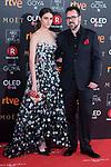 Sandra Escacena and Paco Plaza attends red carpet of Goya Cinema Awards 2018 at Madrid Marriott Auditorium in Madrid , Spain. February 03, 2018. (ALTERPHOTOS/Borja B.Hojas)
