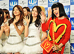 Katy Perry, Girls' Generation, Mar 02, 2014 : Tokyo, Saitama, Japan : Singer Katy Perry and South Korean girl group Girls' Generation attend the U-Express Live 2014 press conference at Saitama Super Arena in Saitama Prefecture, Japan, on March 2, 2014.