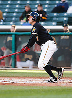 Salt Lake Bees center fielder Reggie Willits #7 during a game vs. Tacoma Rainiers on April 26, 2011 at Spring Mobile Ballpark in Salt Lake City, Utah. Salt Lake Bees were defeated by Tacoma 8-4.  Photo By Matthew Sauk/Four Seam Images
